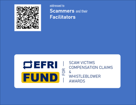 EFRI Funds letter to scammers